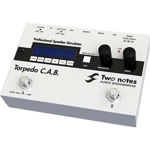 Two Notes Audio Engineering Torpedo C.A.B. Digital Speaker Cabinet Simulator Pedal thumbnail