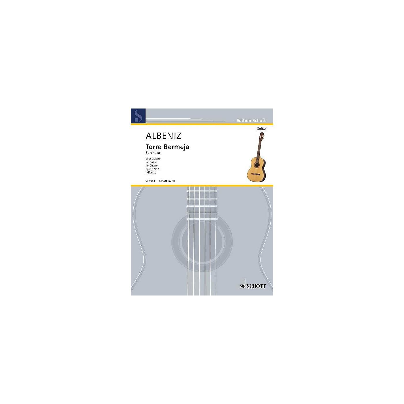 Schott Freres Torre Bermeja Op. 92/12 (for Guitar) Schott Series thumbnail