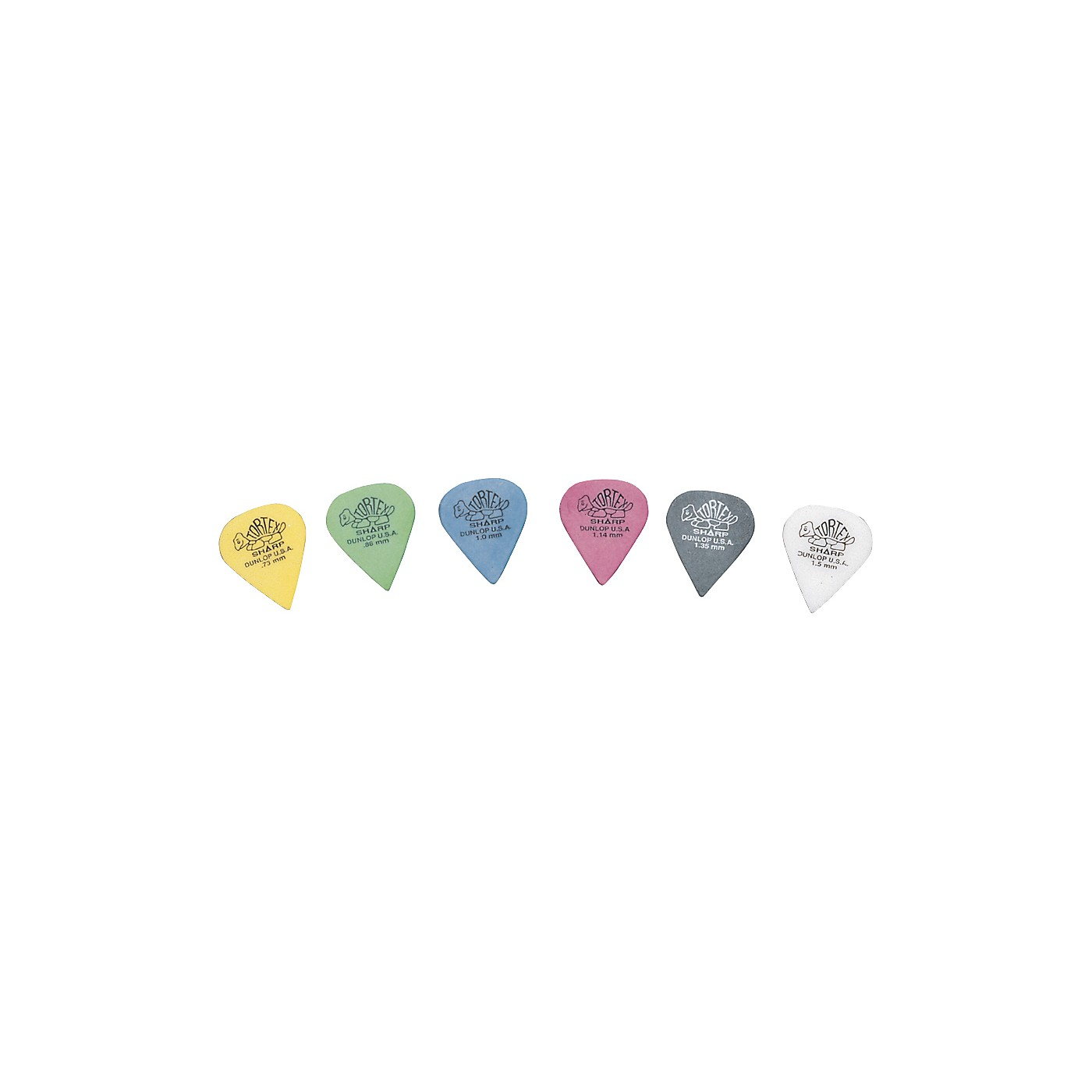 Dunlop Tortex Sharp Guitar Picks 1 Dozen thumbnail