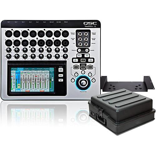 QSC TouchMix-16 Compact Digital Mixer with Rackmount Kit and Case thumbnail