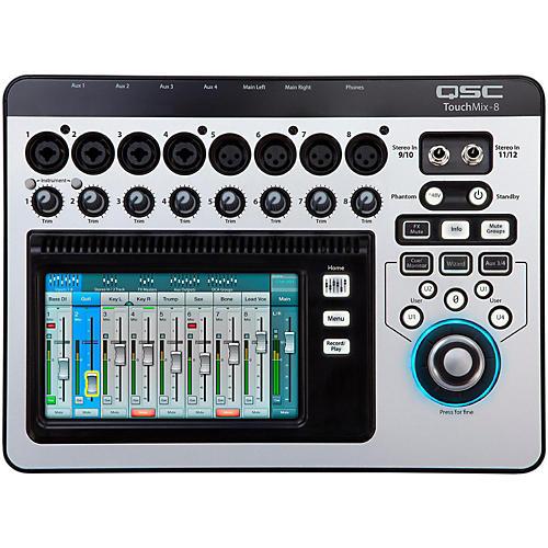 QSC TouchMix-8 8-Channel Compact Digital Mixer-thumbnail