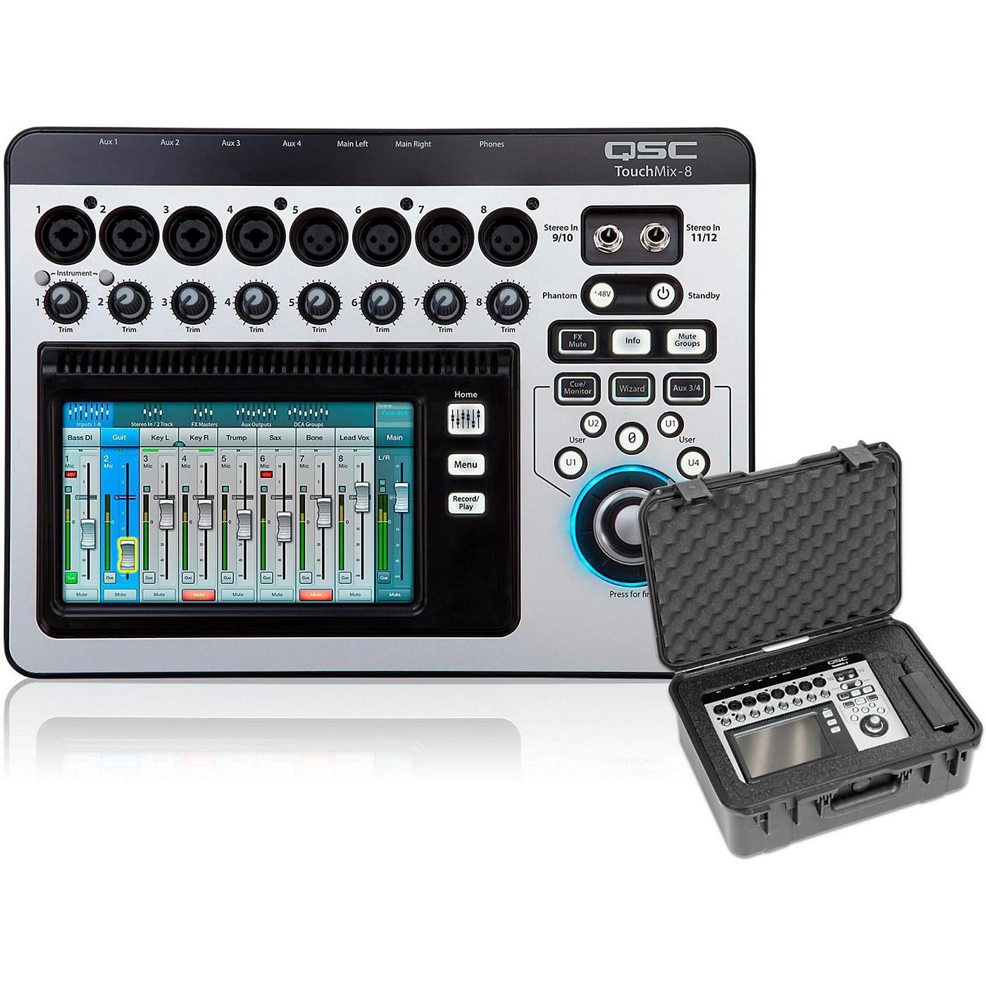 QSC TouchMix-8 Compact Digital Mixer with Case thumbnail