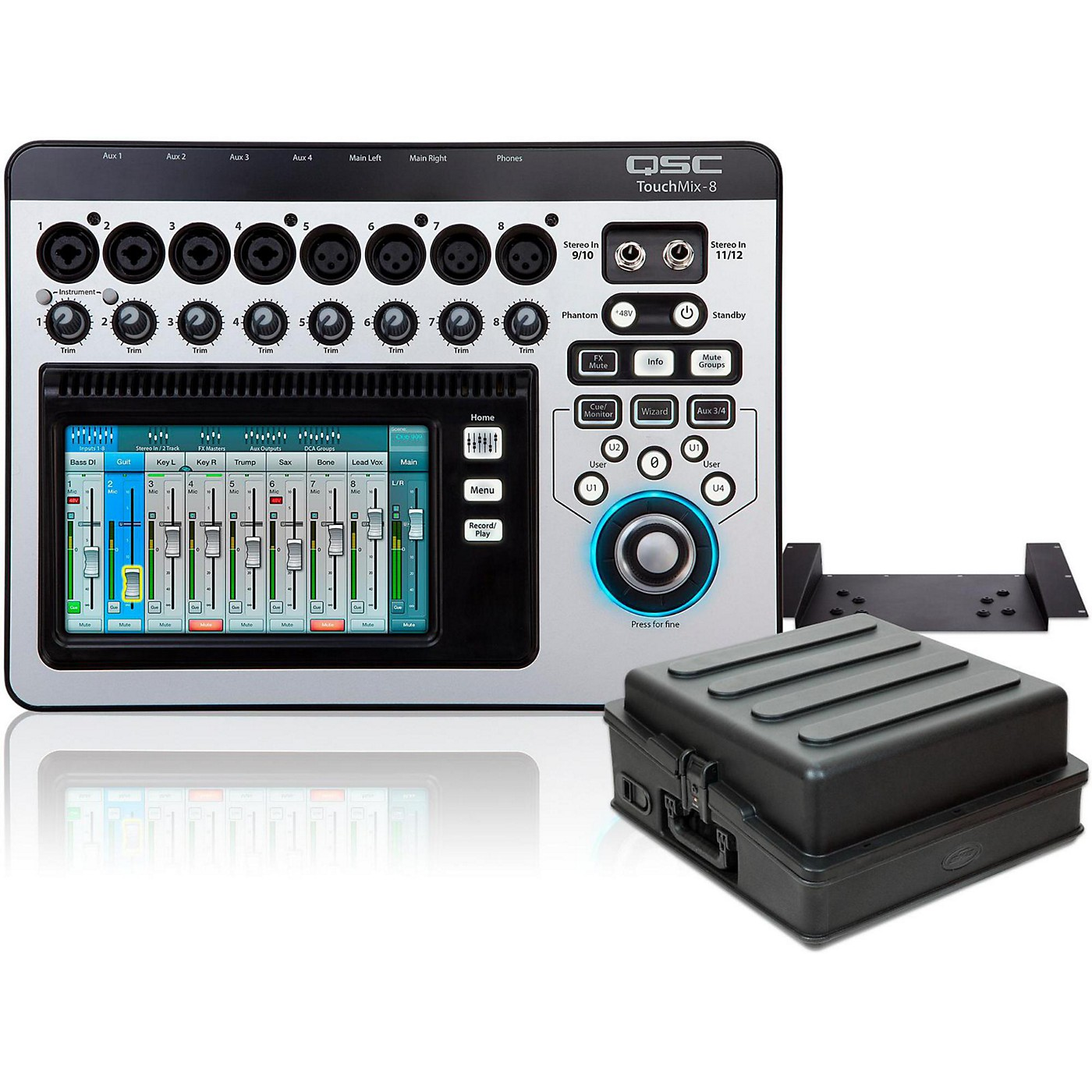 QSC TouchMix-8 Compact Digital Mixer with Rackmount Kit and Case thumbnail