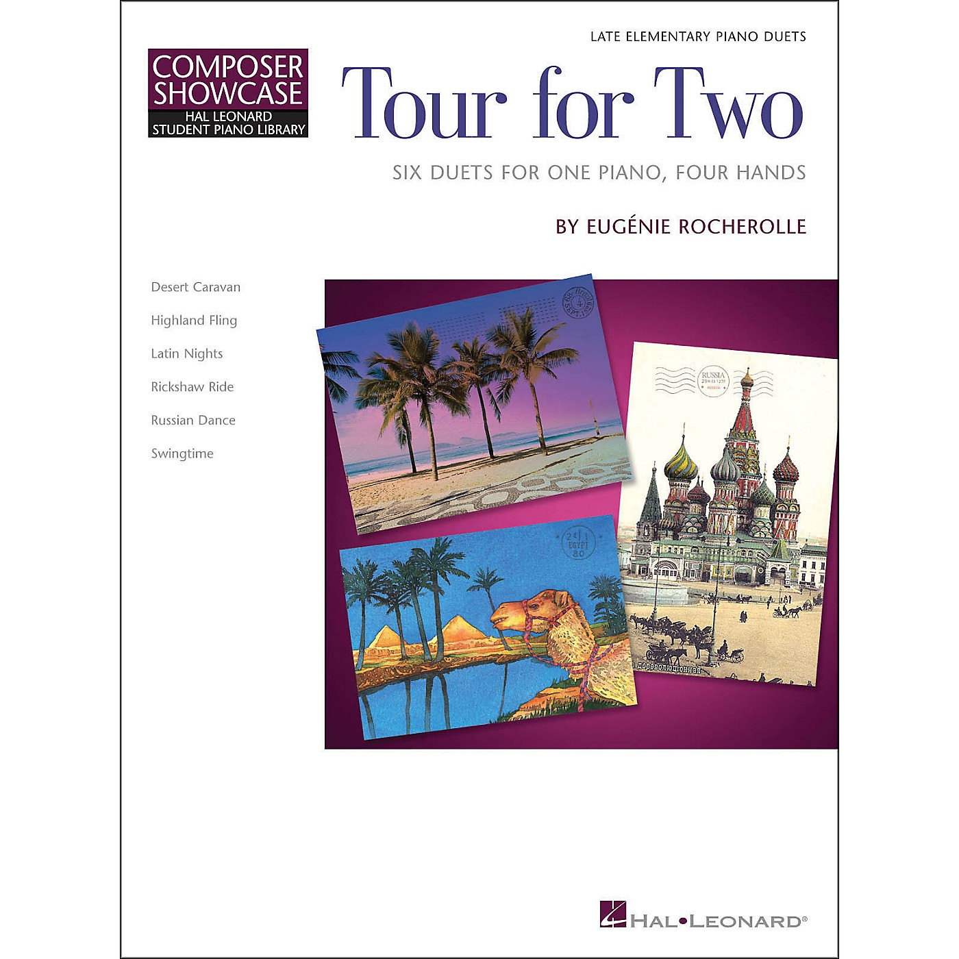 Hal Leonard Tour for Two - Six Duets for One Piano Four Hands - HLSPL Composer Showcase-Late Elementary thumbnail