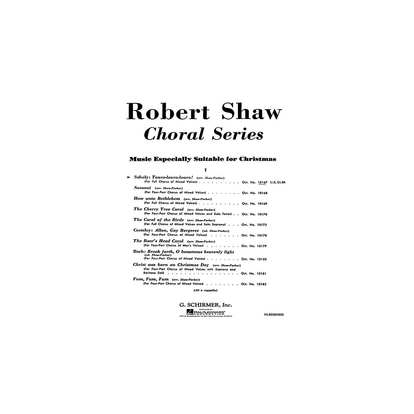 G. Schirmer Touro Louro Louro A Cappella SATB composed by N Saboly thumbnail