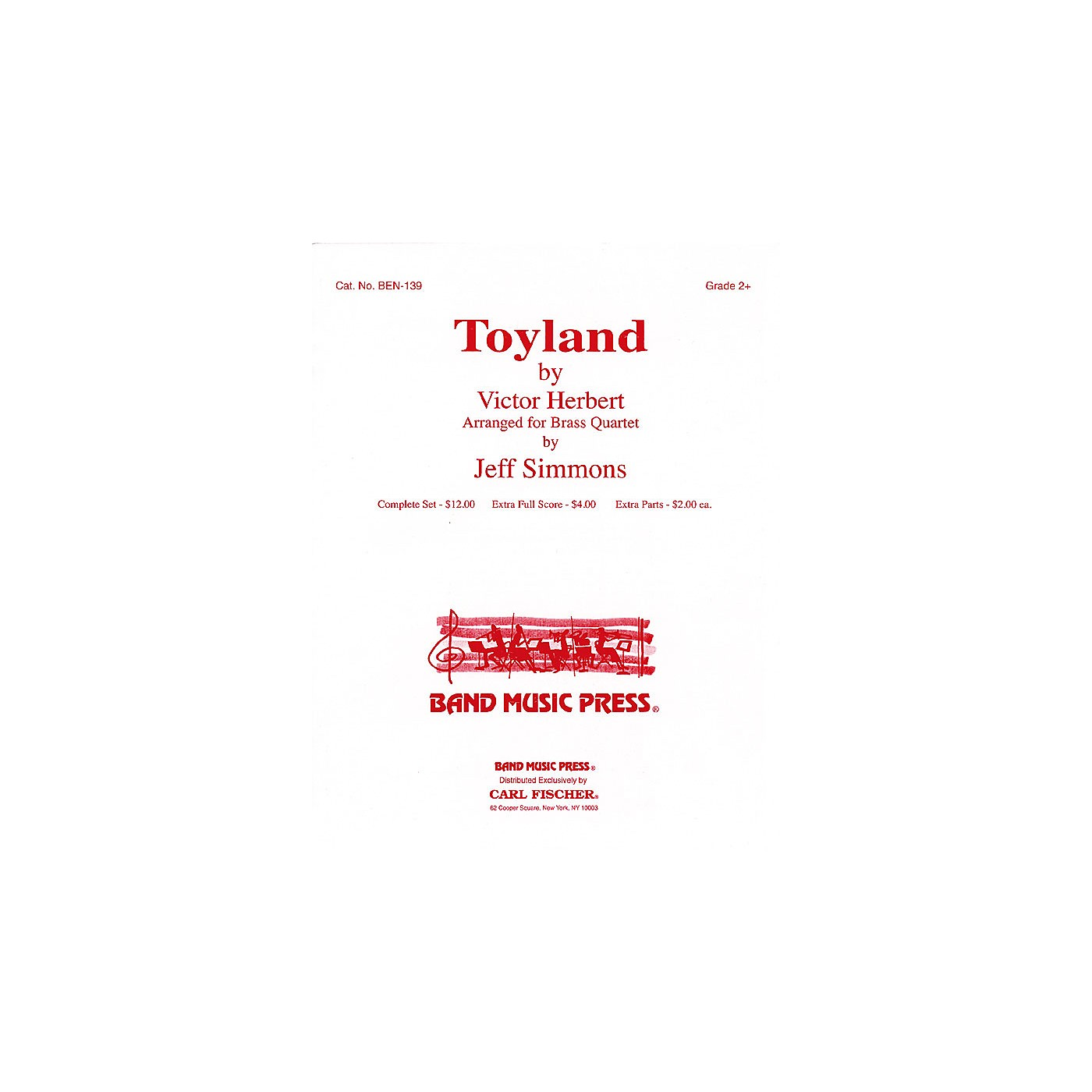 Band Music Press Toyland (for Brass Quartet) Concert Band Level 2 1/2 Arranged by Jeff Simmons thumbnail