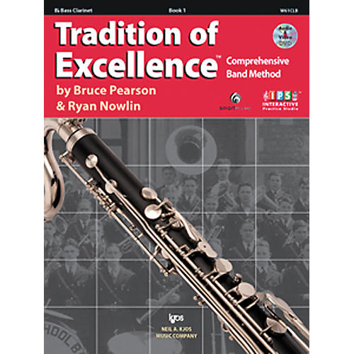KJOS Tradition Of Excellence Book 1 for Bass Clarinet-thumbnail