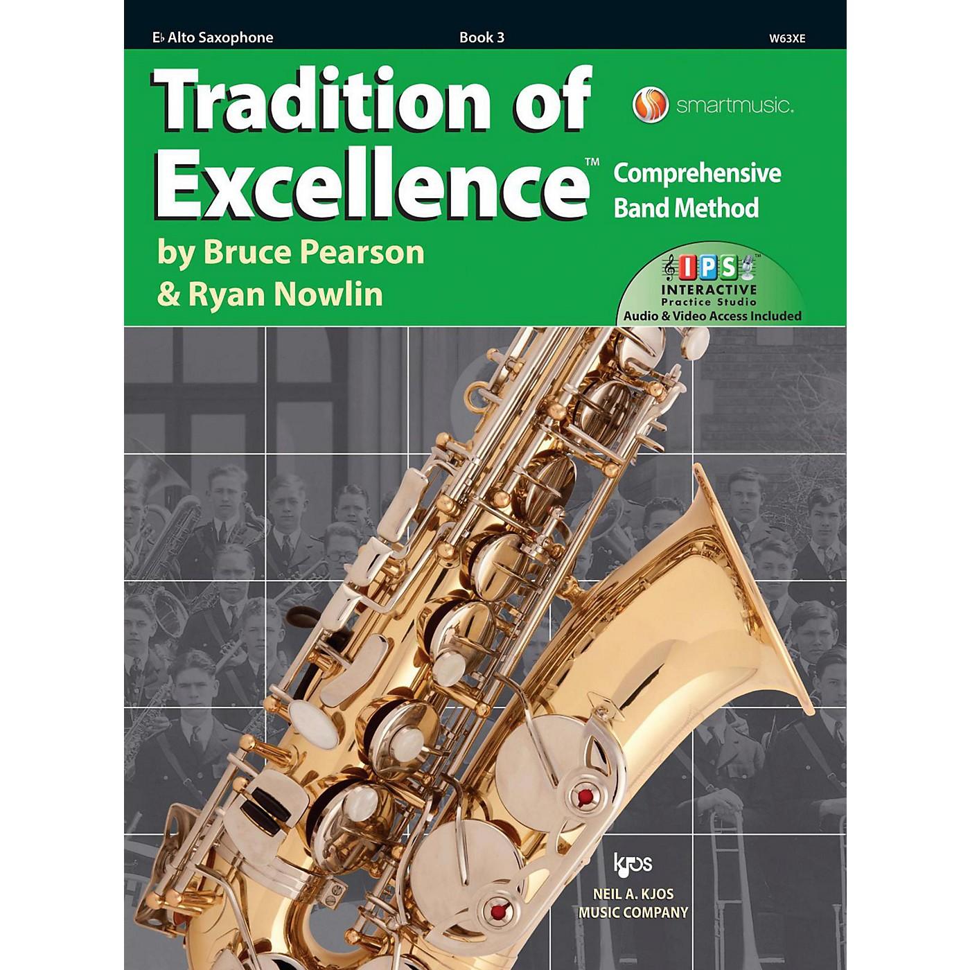 KJOS Tradition of Excellence Book 3 Alto sax thumbnail