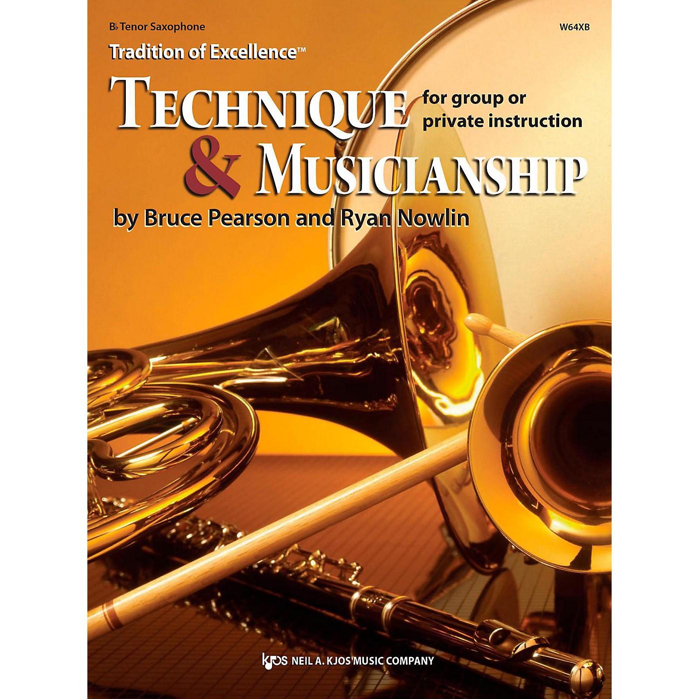 KJOS Tradition of Excellence: Technique & Musicianship Tenor Sax thumbnail