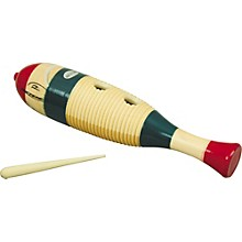 Rhythm Band Traditional Wood Guiro with Scratcher