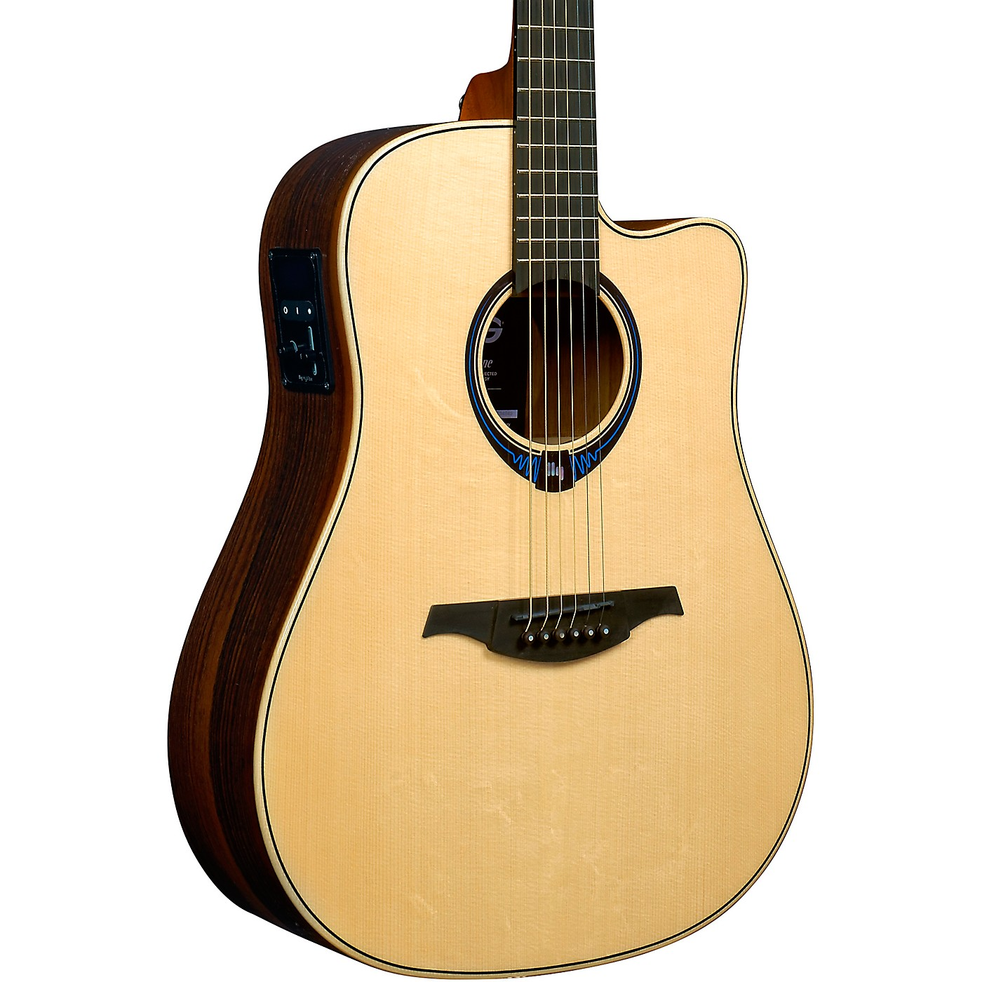 Lag Guitars Tramontane HyVibe THV30DCE Dreadnought Acoustic-Electric Smart Guitar thumbnail
