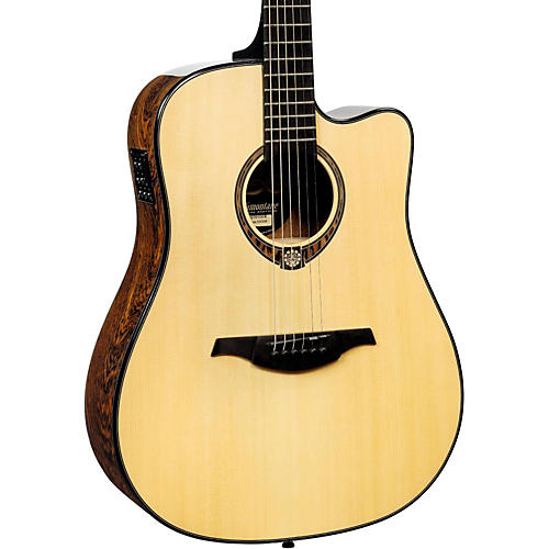 Lag Guitars Tramontane Limited Edition TSE701DCE Snakewood Dreadnought Cutaway Acoustic-Electric Guitar thumbnail
