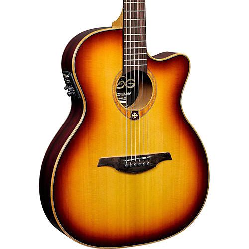 lag guitars tramontane t100asce slim line auditorium cutaway acoustic electric guitar woodwind. Black Bedroom Furniture Sets. Home Design Ideas