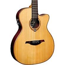 Lag Guitars Tramontane T100ASCE Slim-line Auditorium Cutaway Acoustic-Electric Guitar
