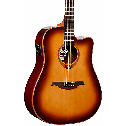 Lag Guitars Tramontane T100DCE Dreadnought Cutaway Acoustic-Electric Guitar thumbnail