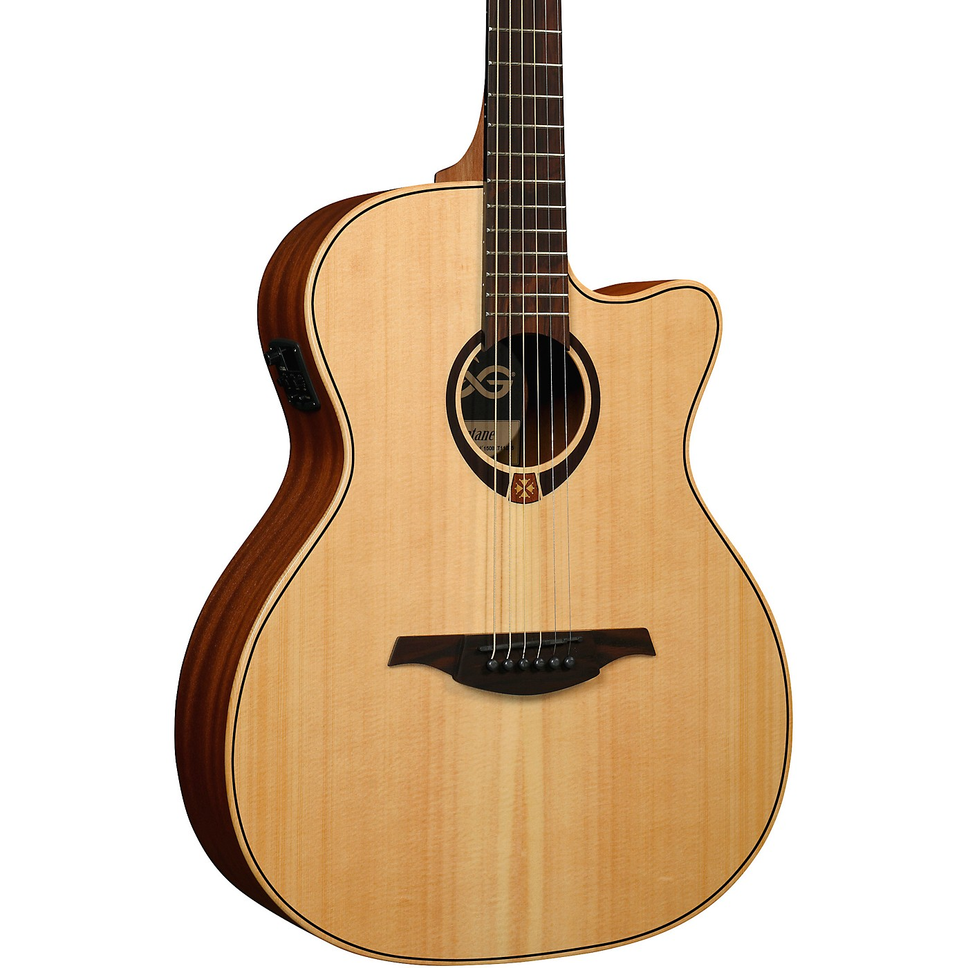 Lag Guitars Tramontane T70ACE Auditorium Cutaway Acoustic-Electric Guitar thumbnail