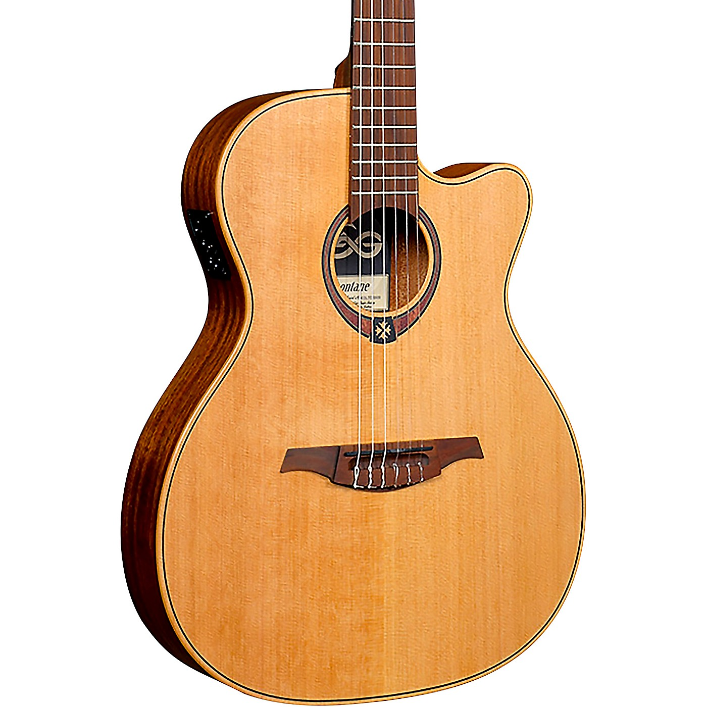 Lag Guitars Tramontane TN170ASCE Auditorium Cutaway Acoustic-Electric Classical Guitar thumbnail