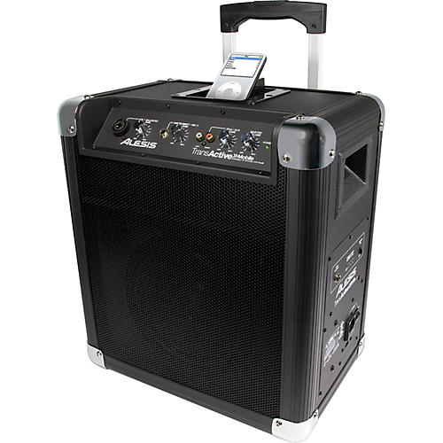 Alesis Transactive Mobile Roller PA With iPod Dock Black thumbnail