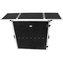 ProX Transformer Series Fold Away DJ Performance Desk Facade Black/Black with Wheels