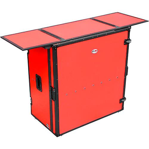 ProX Transformer Series Fold Away DJ Table - Red/Black (XS-DJSTNRB) thumbnail