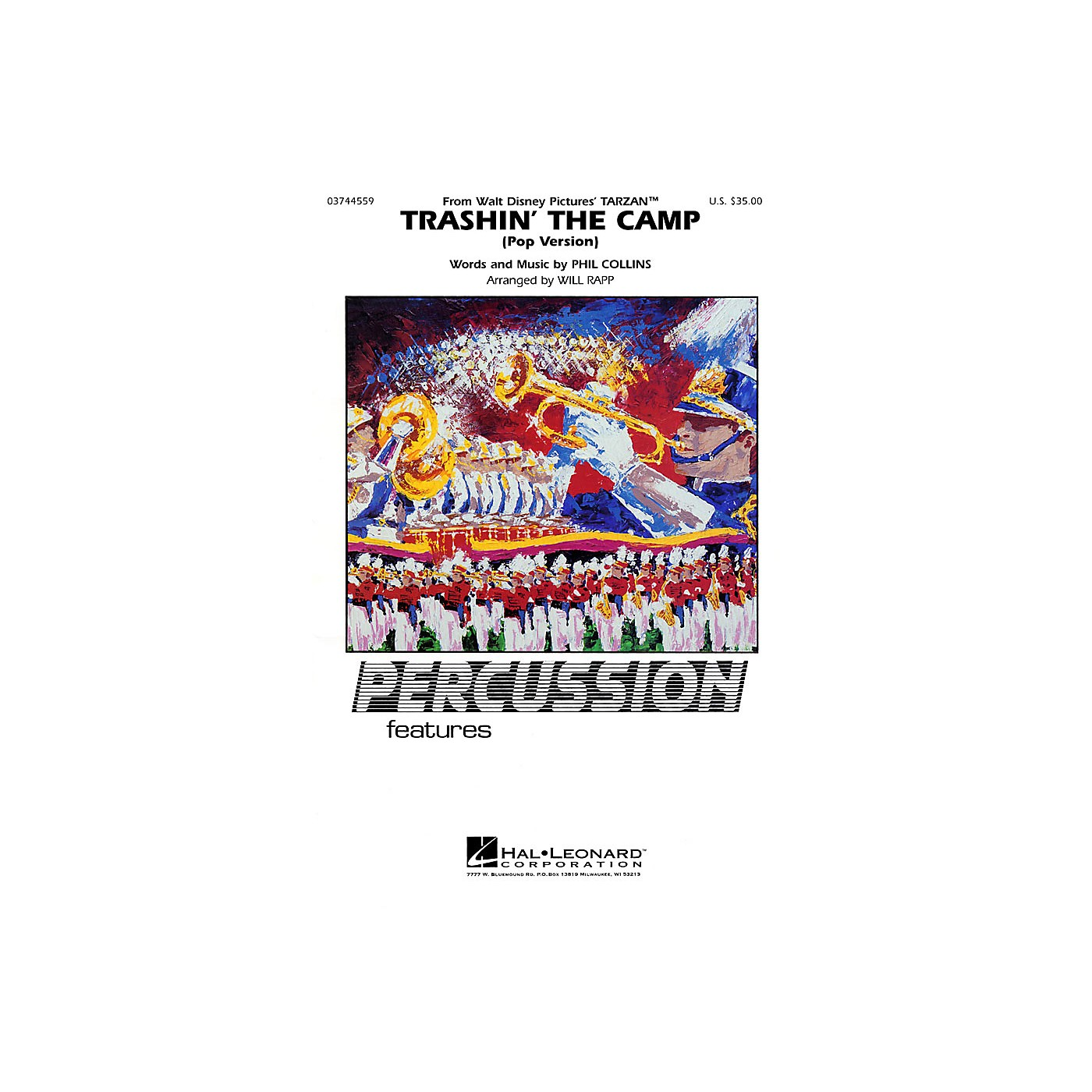 Hal Leonard Trashin' the Camp (Percussion Feature) Marching Band Level 2-3 thumbnail