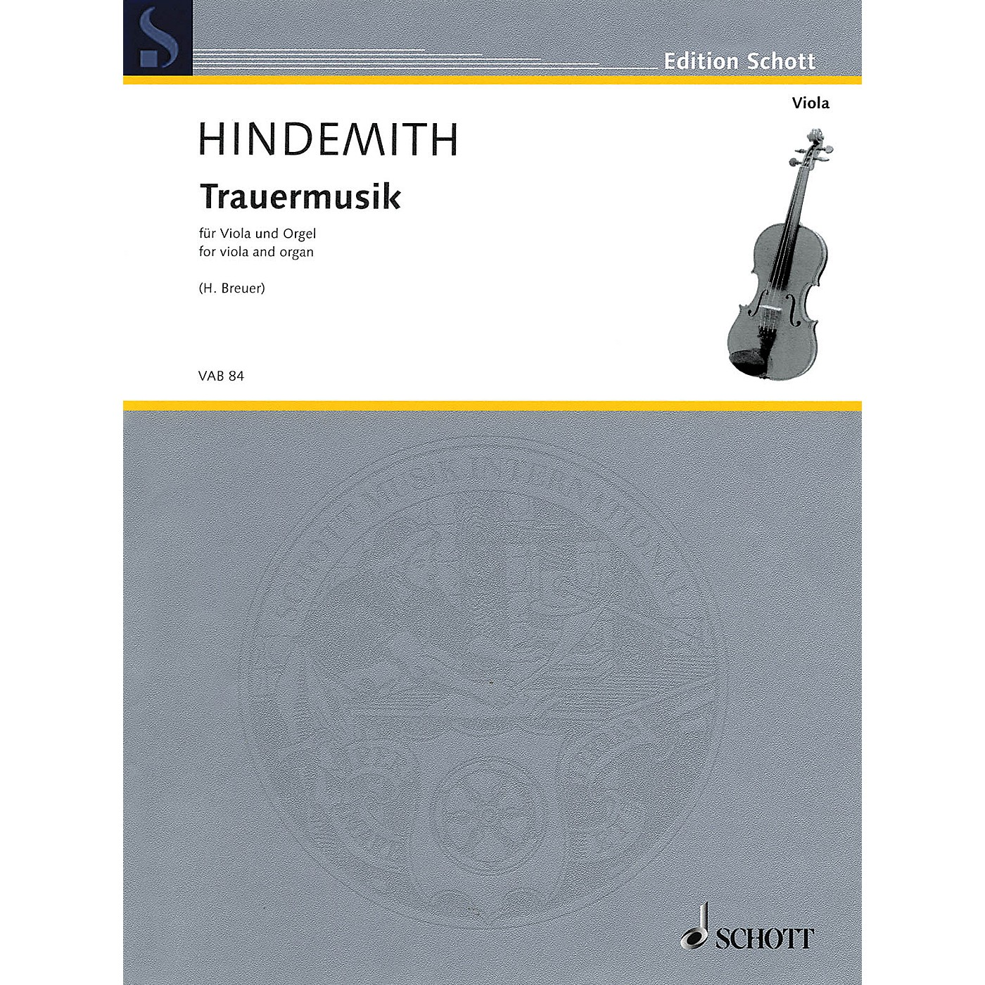 Schott Trauermusik (arranged for Viola and Organ) String Series Softcover thumbnail