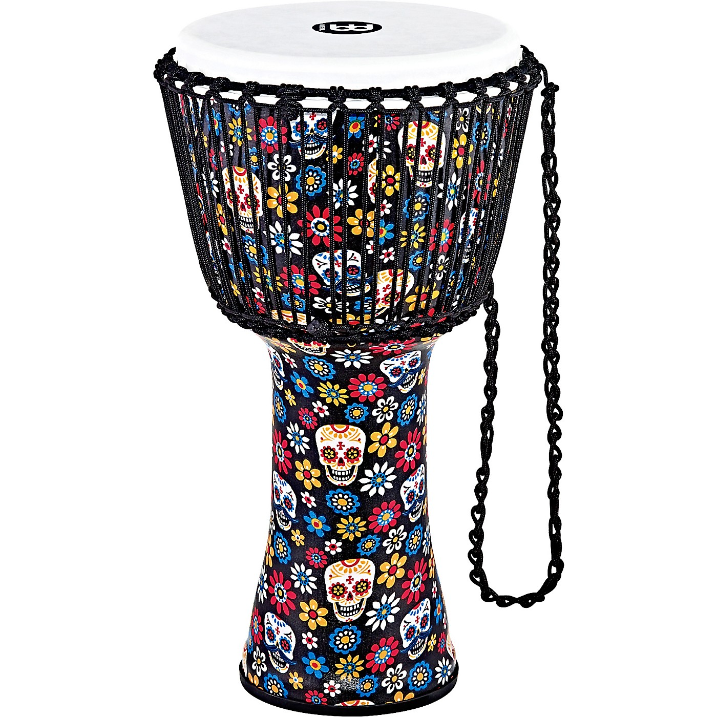 Meinl Travel Series Djembe with Synthetic Head in Day of the Dead Finish thumbnail