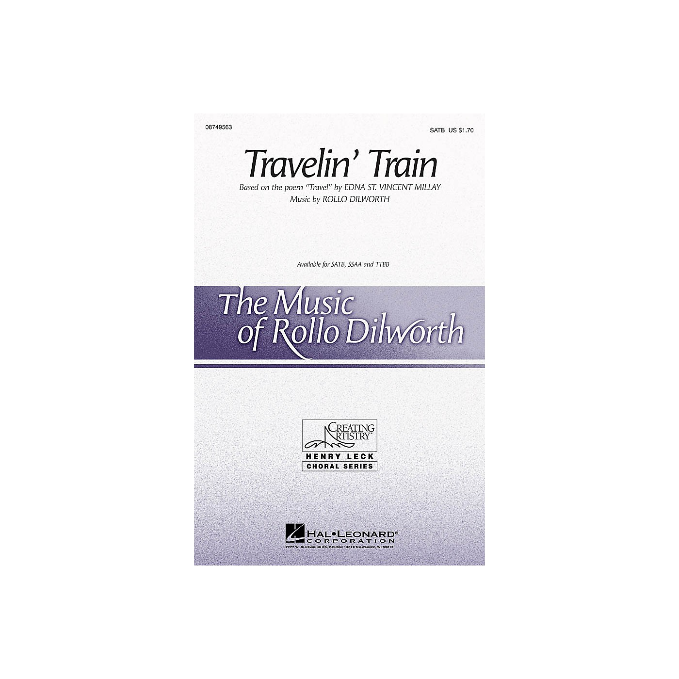 Hal Leonard Travelin' Train SATB composed by Rollo Dilworth thumbnail