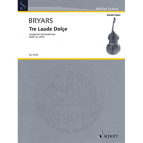 Schott Tre Laude Dolçe (for Solo Double Bass) String Series Softcover thumbnail