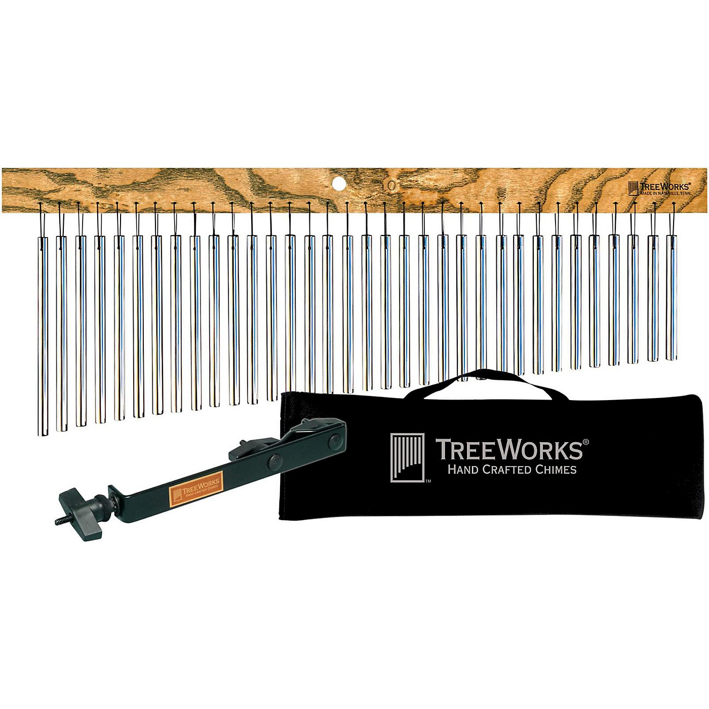 Treeworks Tre35 Aluminum Classic Chimes with Soft Bag and Free Mount thumbnail