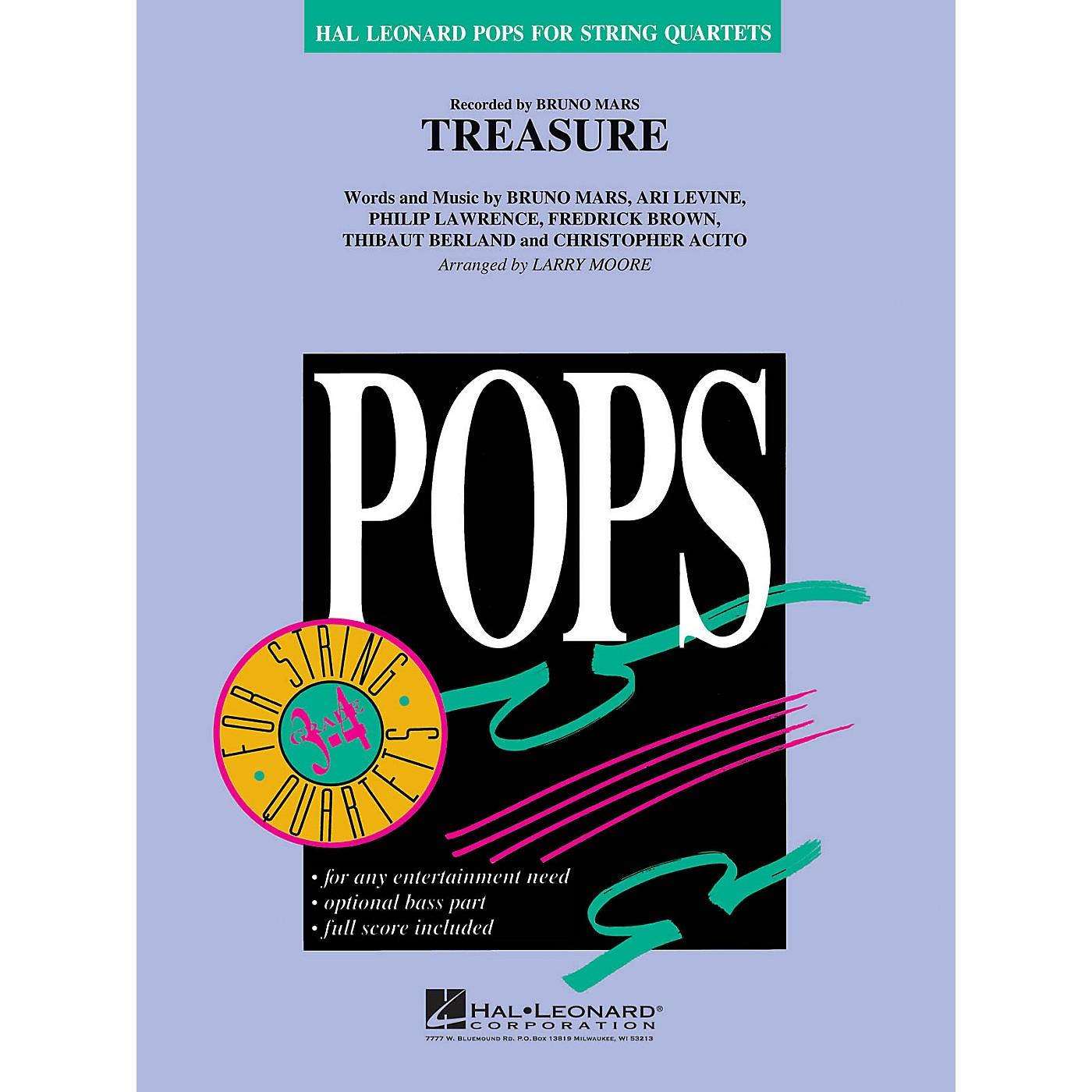 Hal Leonard Treasure Pops For String Quartet Series by Bruno Mars Arranged by Larry Moore thumbnail