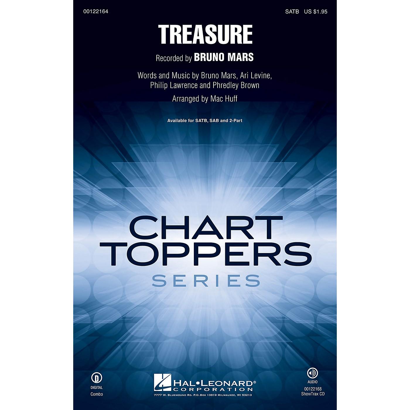 Hal Leonard Treasure SAB by Bruno Mars Arranged by Mac Huff thumbnail