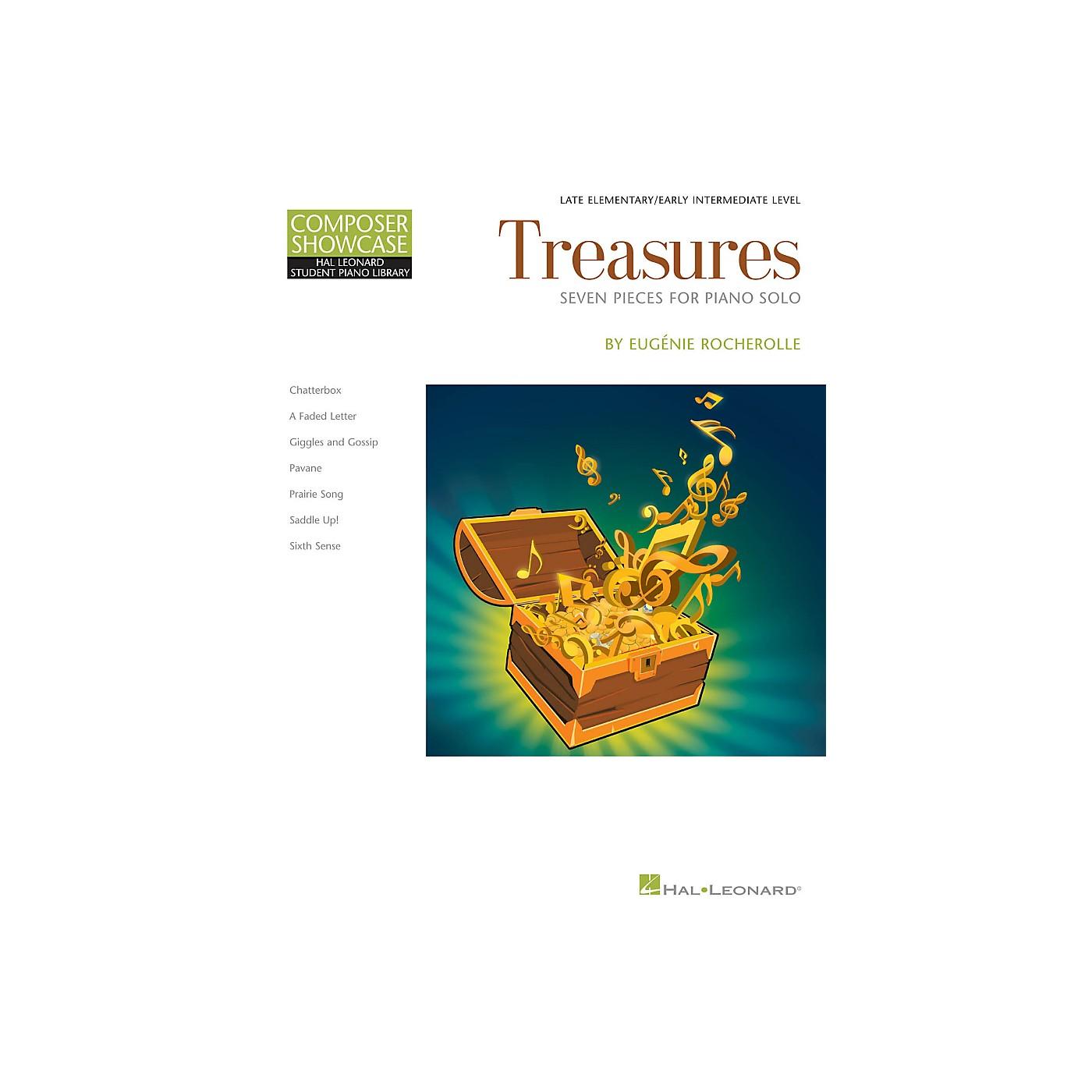 Hal Leonard Treasures by Eugenie Rocherolle - Hal Leonard Composer Showcase Late Elementary Piano Solo thumbnail