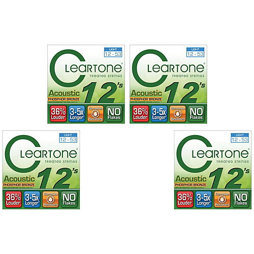 Cleartone Treated Light Acoustic Guitar Strings Four Pack thumbnail