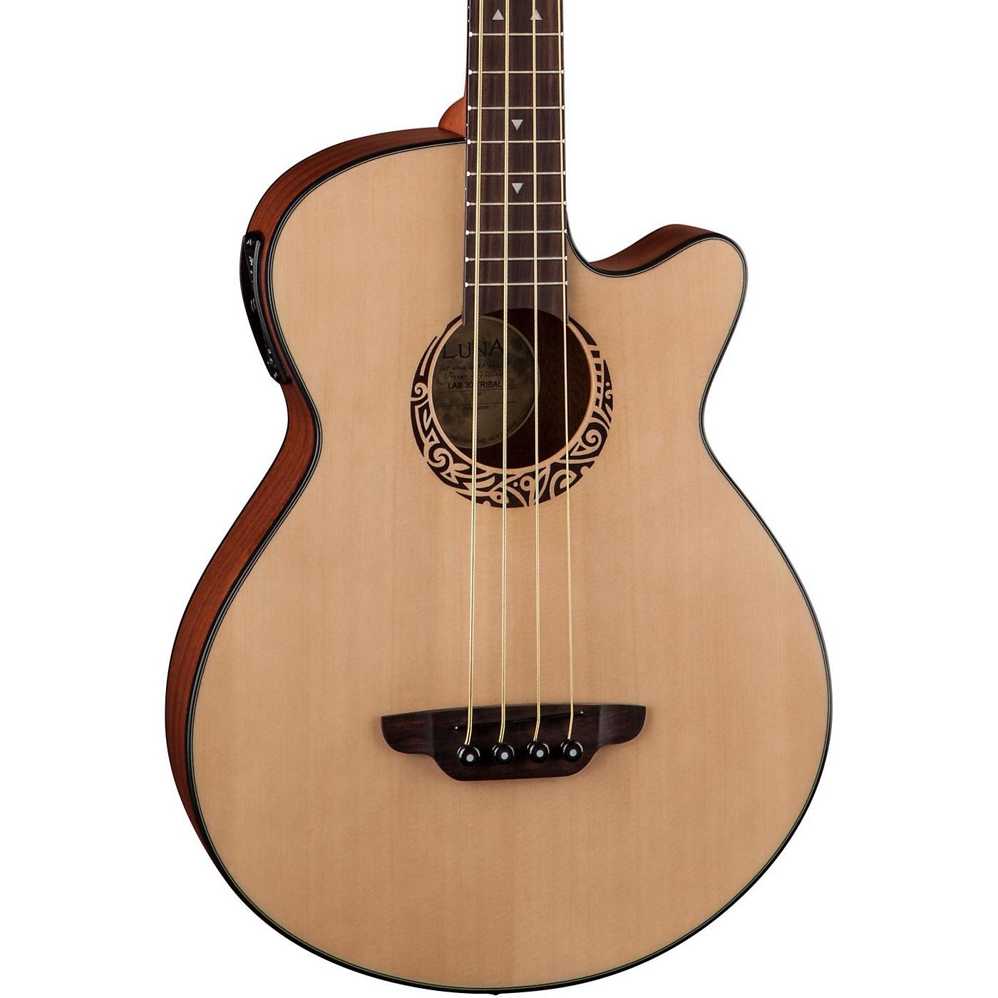 Luna Guitars Tribal Short Scale Acoustic-Electric Bass thumbnail