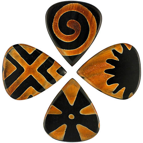 Timber Tones Tribal Tones Mixed Bag of 4 Guitar Picks thumbnail