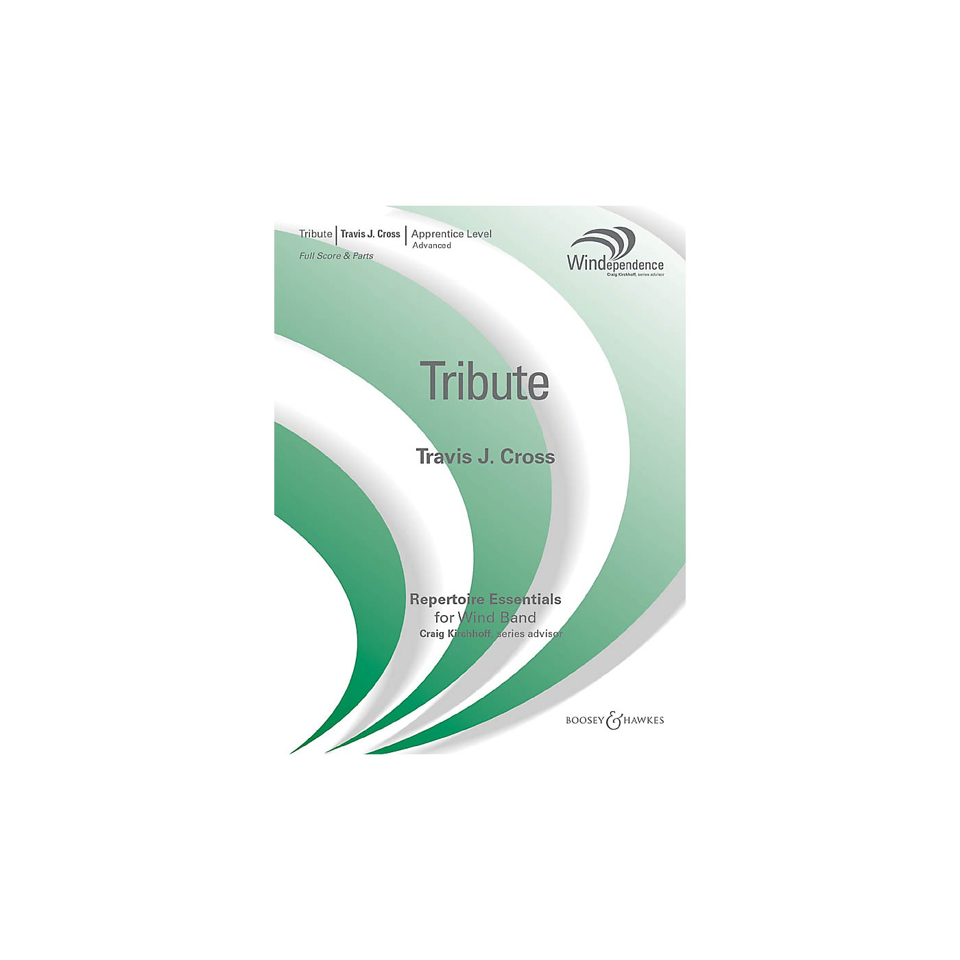 Boosey and Hawkes Tribute (Score Only) Concert Band Level 3 Composed by Travis J. Cross thumbnail