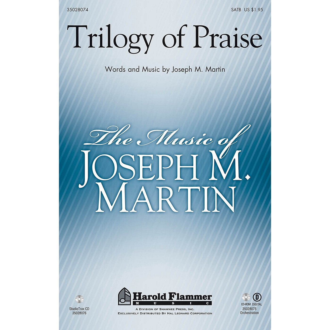 Shawnee Press Trilogy of Praise Studiotrax CD Arranged by Joseph M. Martin thumbnail