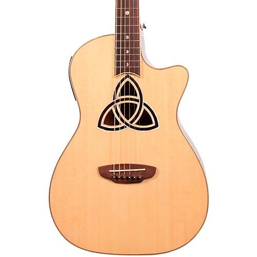 Luna Guitars Trinity Series Cutaway Parlor Acoustic-Electric Guitar thumbnail