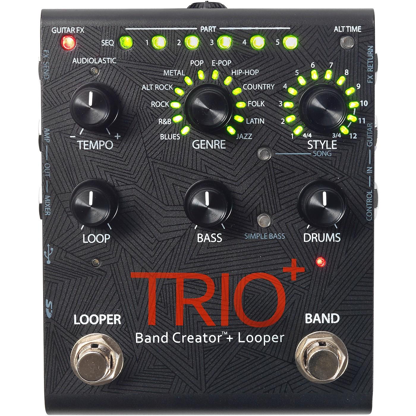 Digitech Trio+ Band Creator Plus Looper Guitar Effects Pedal thumbnail