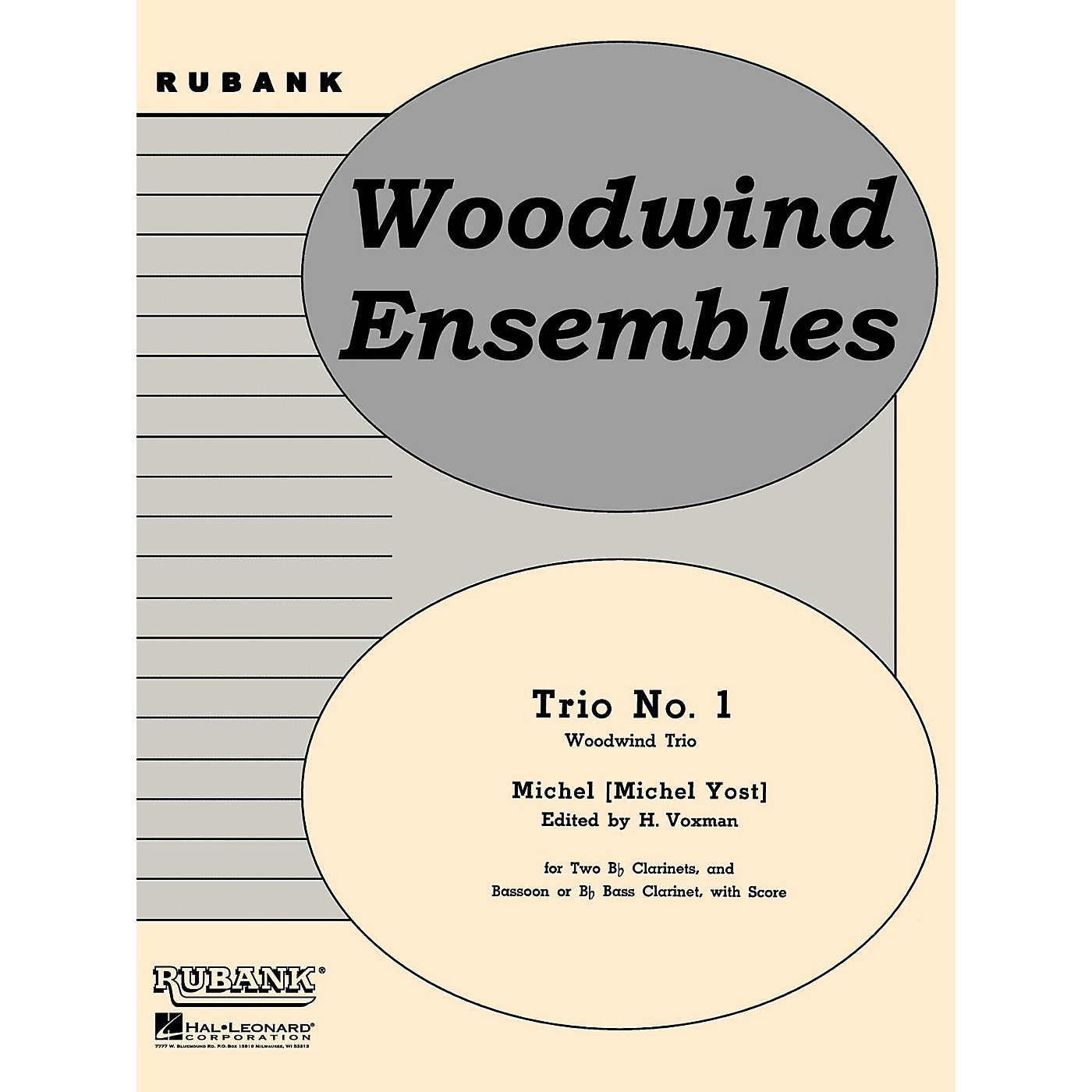 Rubank Publications Trio No. 1 (Woodwind Trio - Grade 4) Rubank Solo/Ensemble Sheet Series Softcover thumbnail