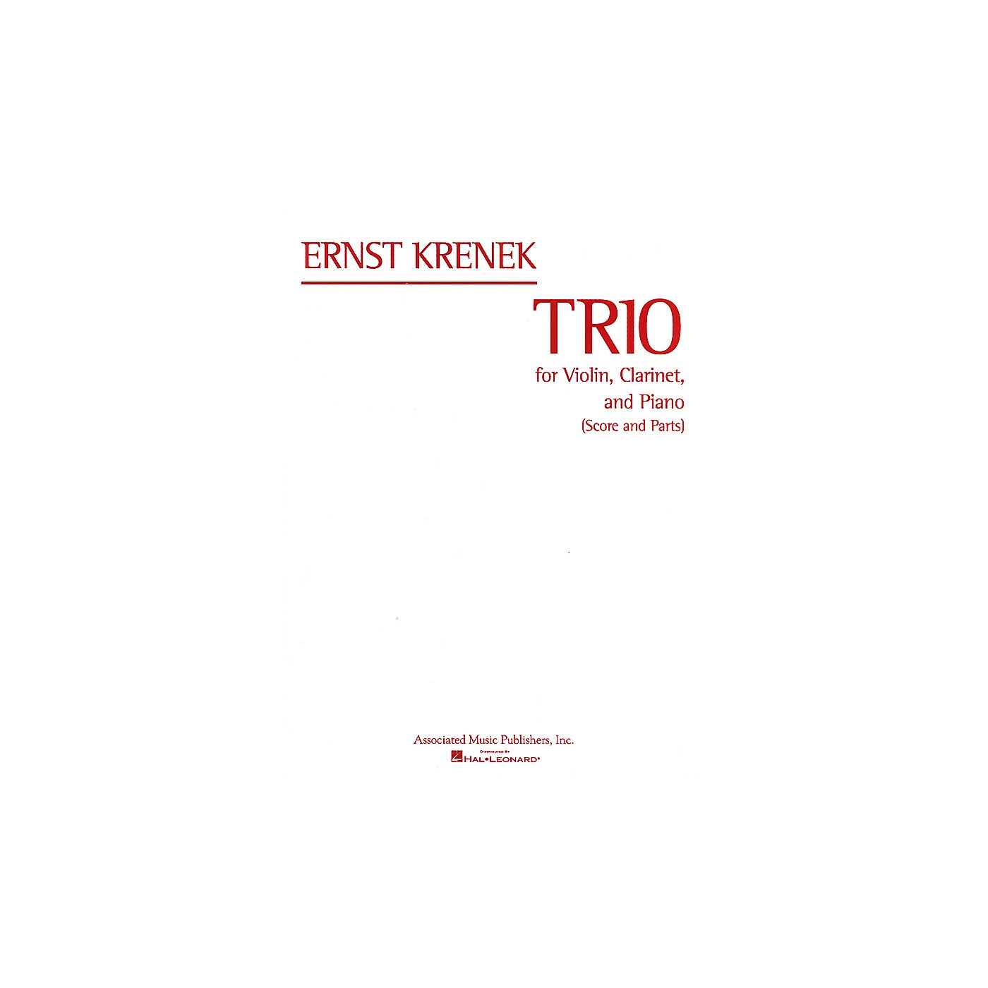 Associated Trio (Score and Parts) Misc Series Composed by Ernst Krenek thumbnail