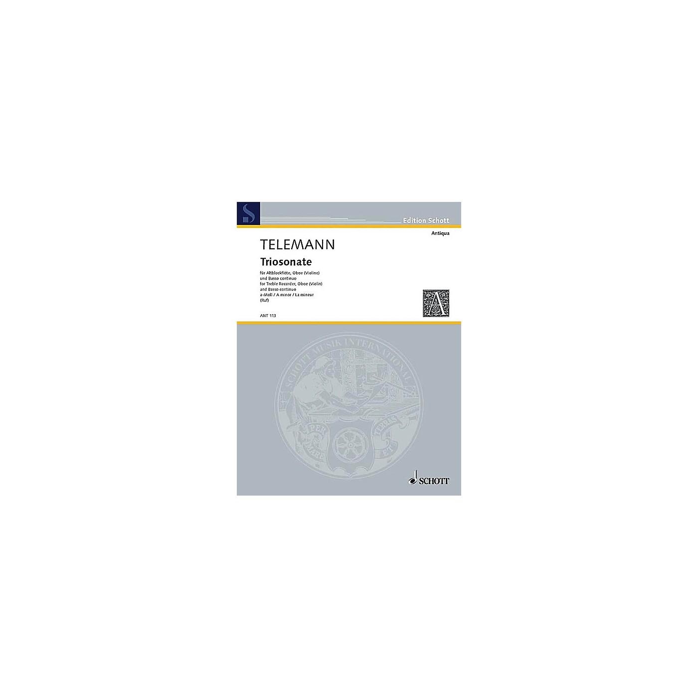 Schott Trio Sonata A Minor Schott Series by Georg Philipp Telemann thumbnail
