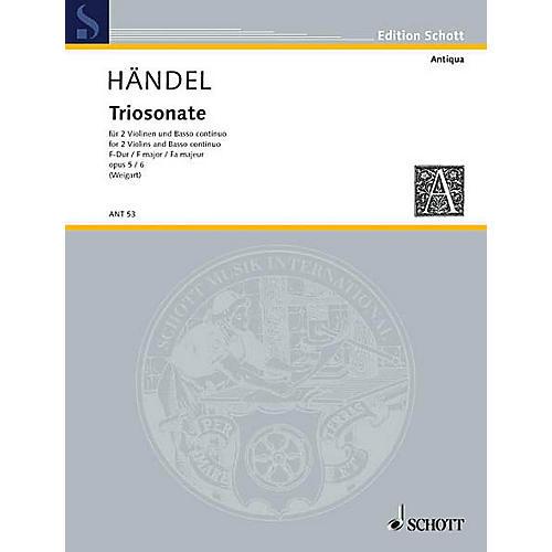 Schott Music Trio Sonata F major Op. 5/6 Schott Series Composed by Georg Friedrich Händel Arranged by Bernhard Weigart thumbnail