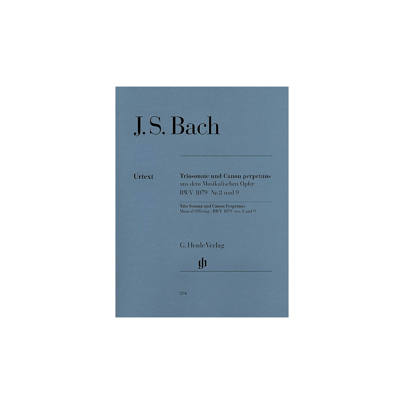 G. Henle Verlag Trio Sonata and Canon Perpetuus from the Musical Offering BWV 1079 Henle Music Softcover by Bach thumbnail