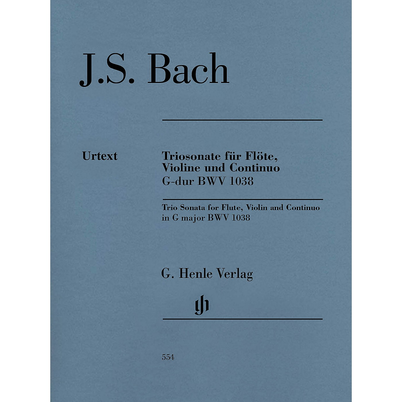 G. Henle Verlag Trio Sonata for Flute, Violin and Continuo BWV 1038 Henle Music Softcover by Bach Edited by Peter Wollny thumbnail