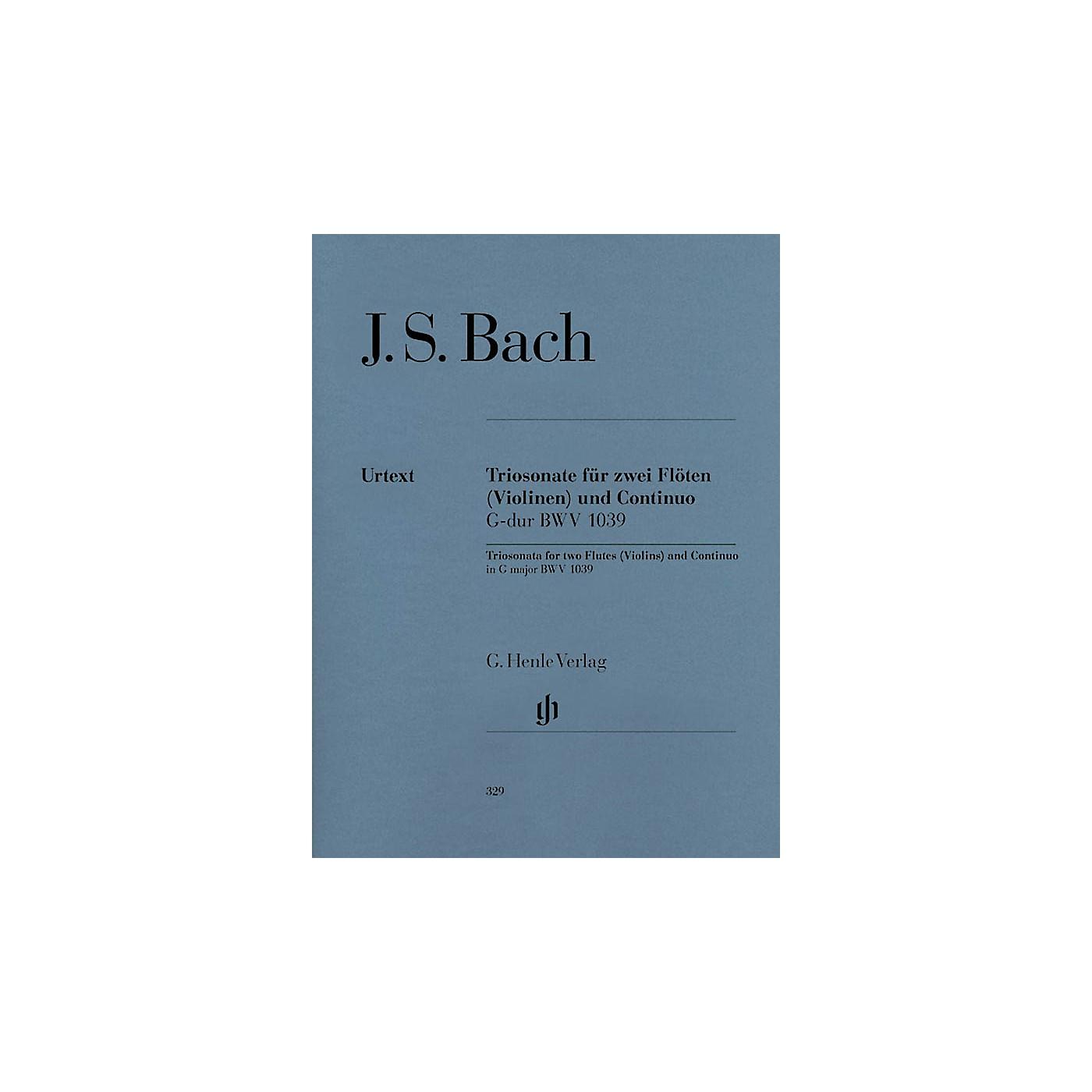 G. Henle Verlag Trio Sonata for Two Flutes and Continuo in G Major, BWV 1039 Henle Music by Johann Sebastian Bach thumbnail