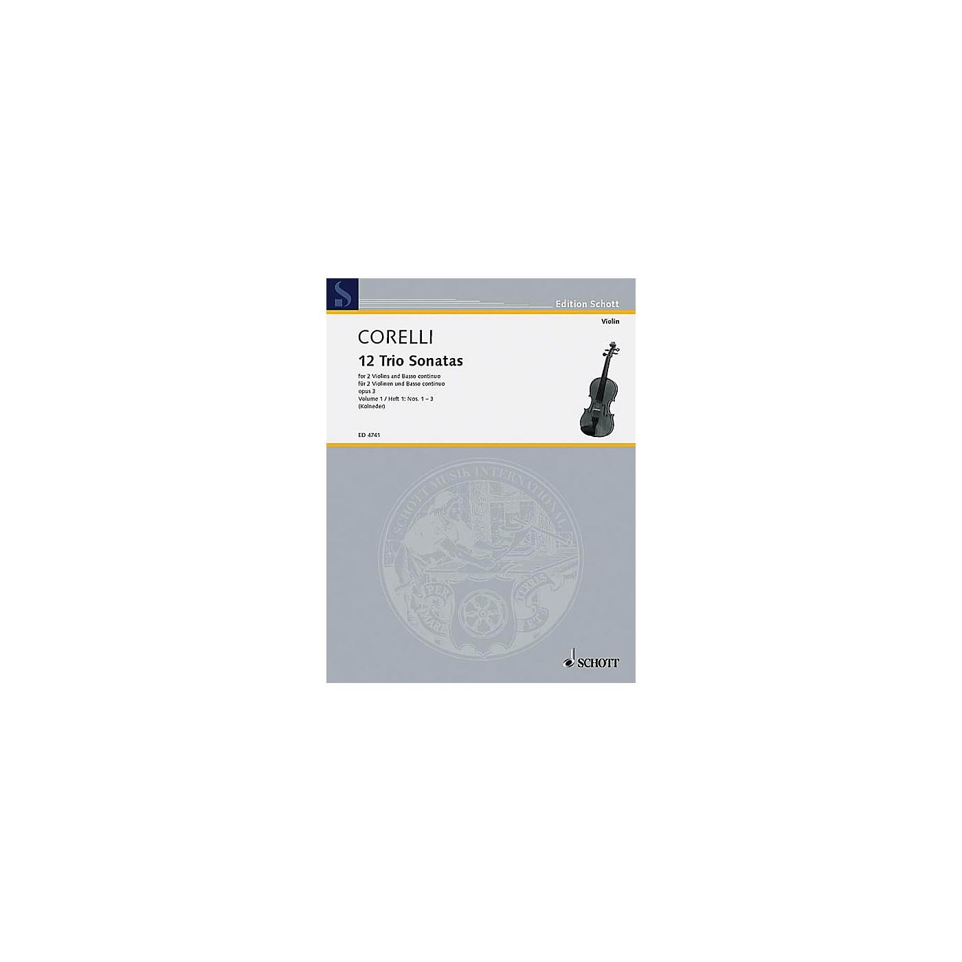Schott Music Trio Sonatas Op. 3, Nos. 1-3 (Score and Parts) Schott Series Composed by Arcangelo Corelli thumbnail