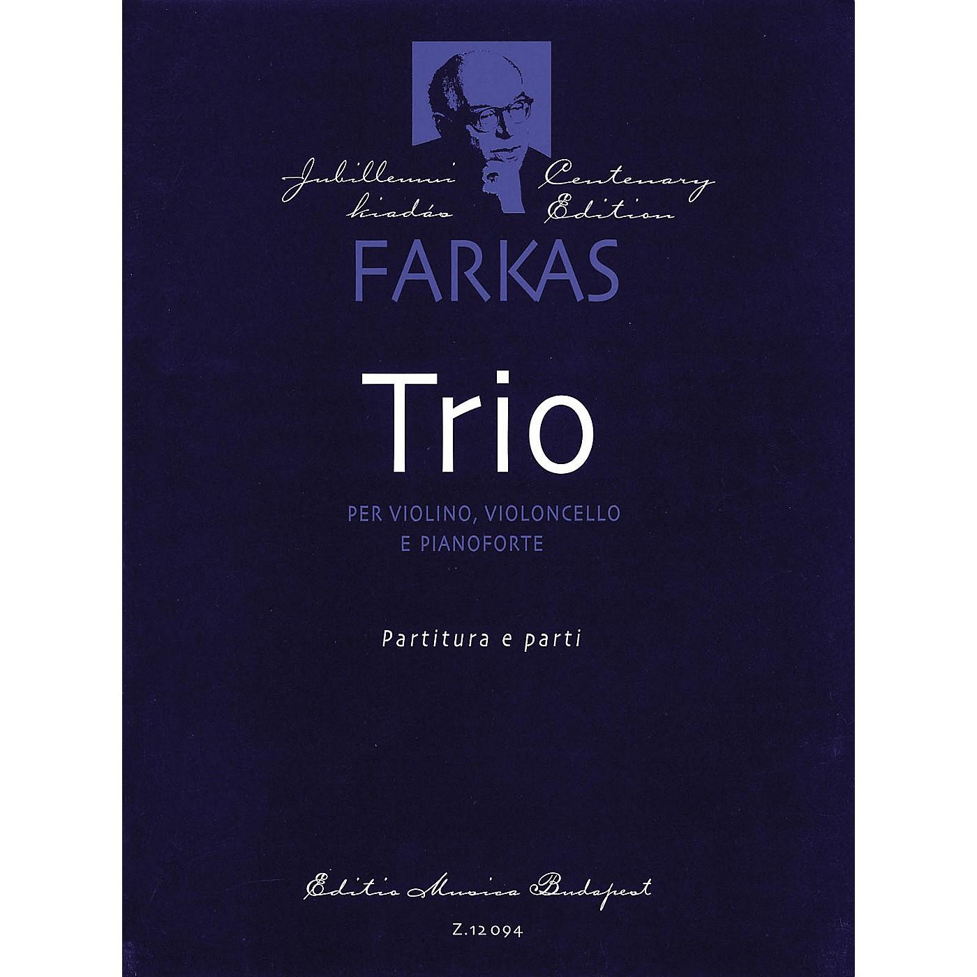 Editio Musica Budapest Trio (Violin, Violoncello and Piano) EMB Series Composed by Ferenc Farkas thumbnail