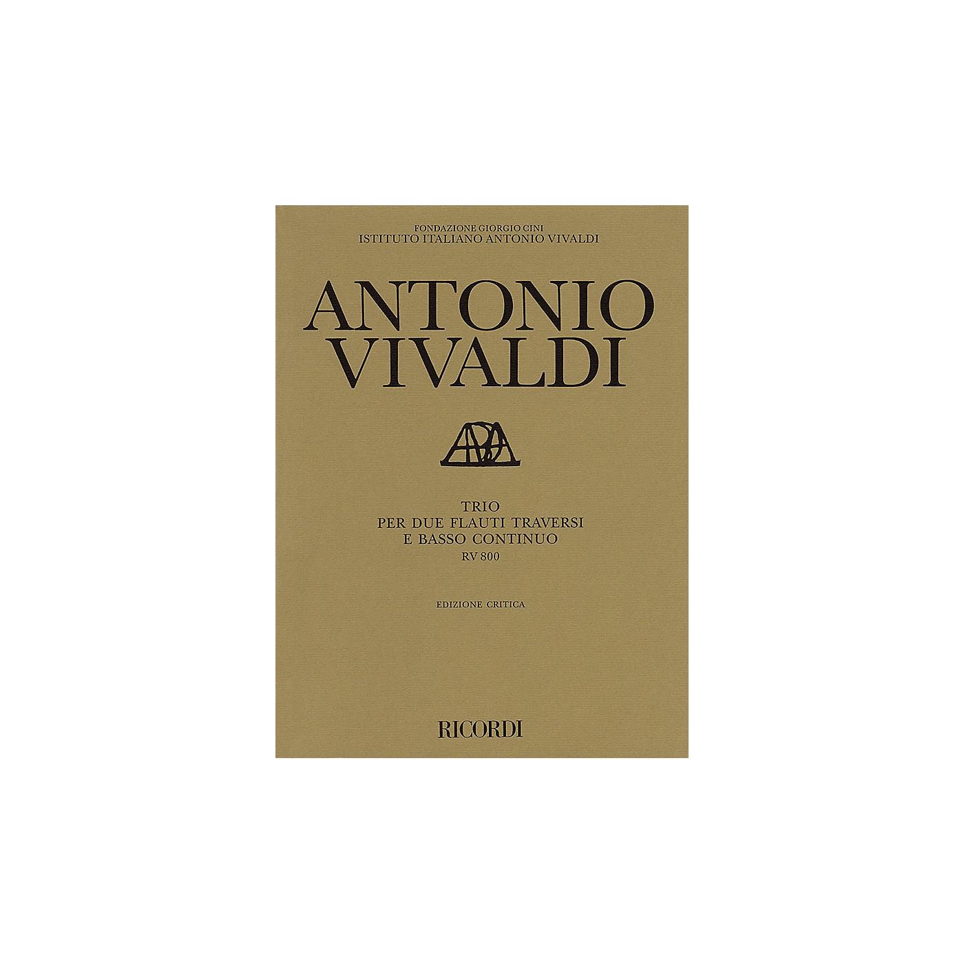 Ricordi Trio for 2 Transverse Flutes and Basso Continuo RV800 Ensemble Series by Antonio Vivaldi thumbnail